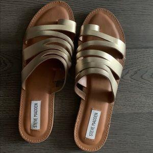 Steve Madden Gold Limited Edition Hester Sandals